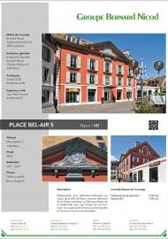 Place Bel-Air Restauration d'un bâtiment historique au coeur de la Ville de Nyon Bernard Nicod Promotion