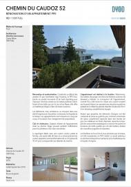 Caudoz Pully rénovation transformation d'un appartement PPE séjour cuisine