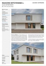 Villas mitoyennes béton counson architectes