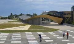 Artlab EPFL Lausanne construction d'un centre d'art de culture et de sciences par Kengo Kuma Architectes et Marti Construction