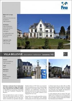 Villa Bellevue Extension contemporaine et restauration de la villa existante au siège de la Fédération Internationale de Natation (FINA) à Lausanne