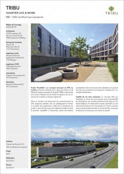 Nouveau quartier d'habitation et artisanal Live & Work Le Mont Lausanne CCHE Architecture Steiner Entreprise Générale