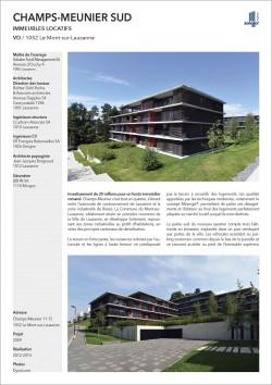 Quartier d'habitation location Le Mont Solvalor Richter Dahl Rocha Architectes