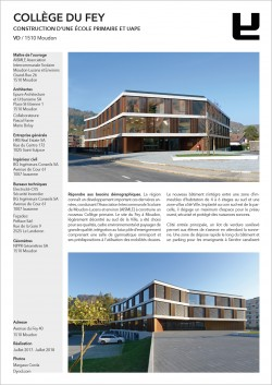 Collège du Fey Moudon Epure HRS