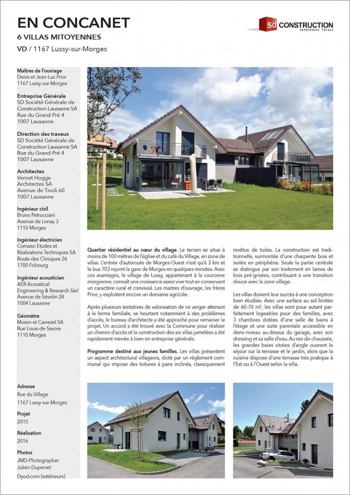 En Concanet Villas dans Quartier résidentiel et villageois Lussy-sur-Morges