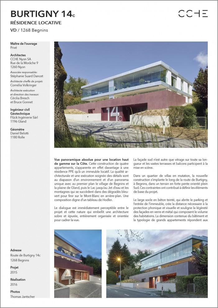 Résidence locative sur la côte à Begnins CCHE architecture