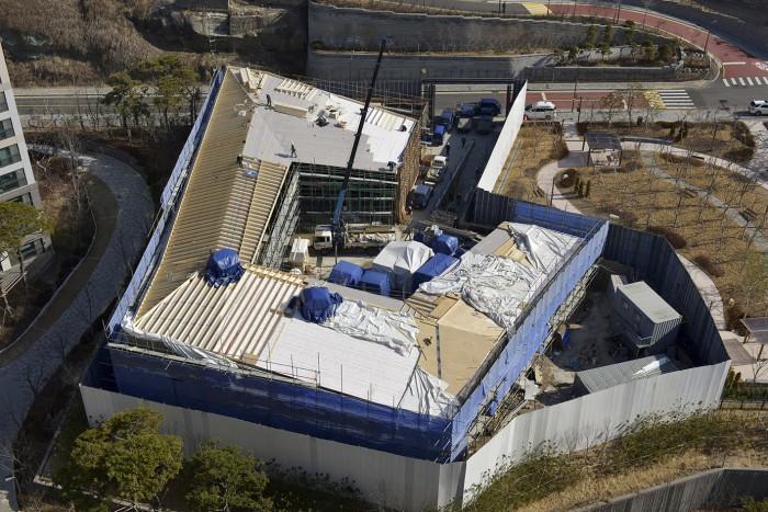 Ambassade de suisse à Séoul Burckhardt partner chantier