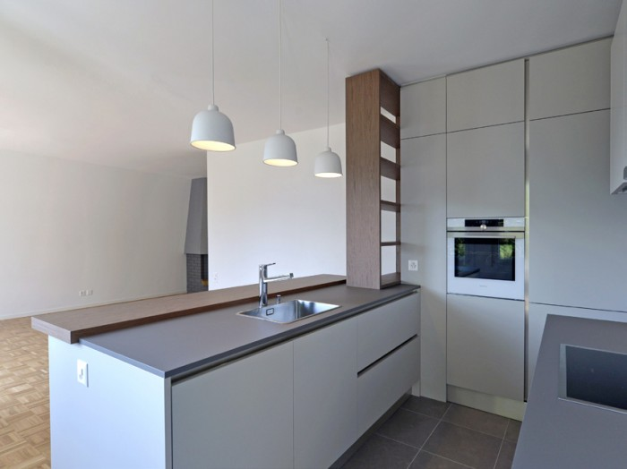 Caudoz Pully rénovation transformation d'un appartement PPE cuisine veneta