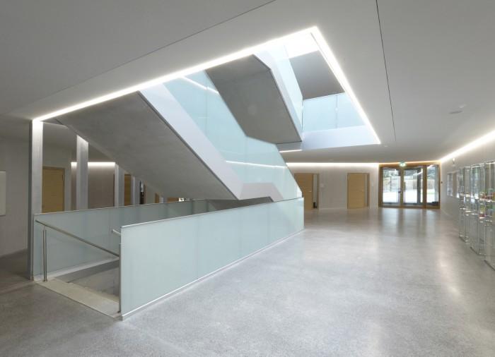 Collège du Fey Moudon Epure HRS escalier principal