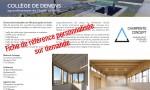 Collège de Denens agrandissement de Benoit architectes Charpente Concept