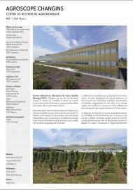 Agroscope Changins Vaud construction de l'OFCL Office Fédéral des Constructions et de la Logistique