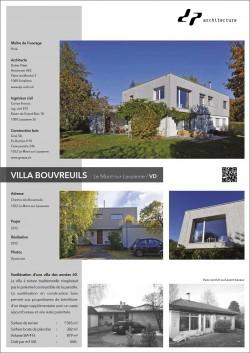 Surélévation d'une villa des années 60 Le Mont Lausanne Didier Pittet Architecture