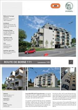Route de Berne 111 Lausanne Wurlod Architectes Losinger marazzi immeuble locatif sur les hauts de Lausanne