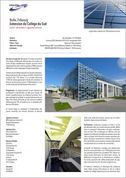 Collège du Sud Bulle Fribourg Agrandissement extension rénovation d'une école