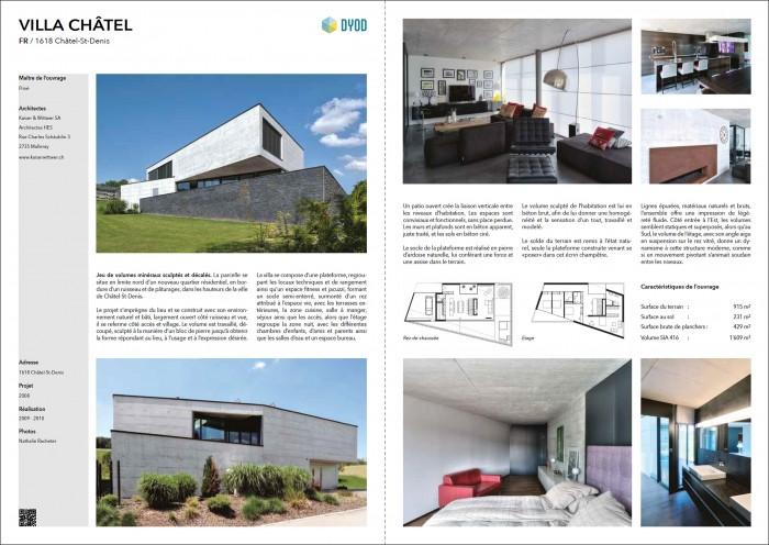 villa familiale moderne contemporaine Kaiser & Wittwer
