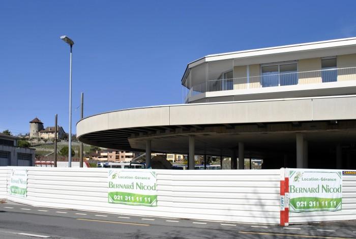 A louer Bernard Nicod La Petite Corniche Quartier d'habitation commerces et bureaux à Lutry