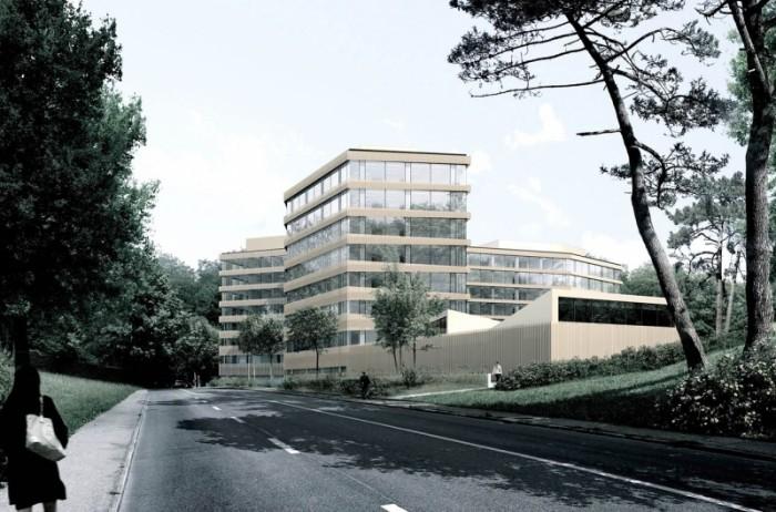 Campus santé genève Internationale FIPOI futur siège du Fonds mondial par LRS architectes