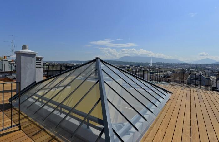 Rue Benjamin Franklin Genève Transformation rénovation immeuble classé Omarini Micello Architectes