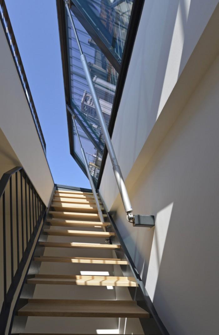 Rue Benjamin Franklin Genève Transformation rénovation immeuble classé Metalu serrurerie escalier