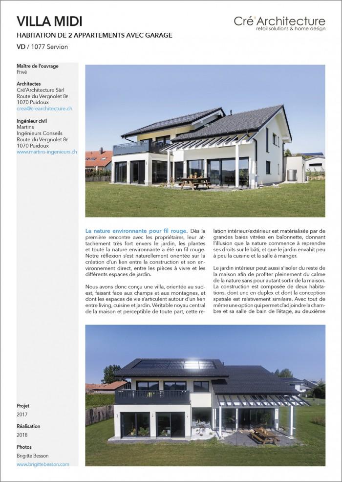 Villa contemporaine à Servion Cré'Architecture à Puidoux La nature pour Fil rouge