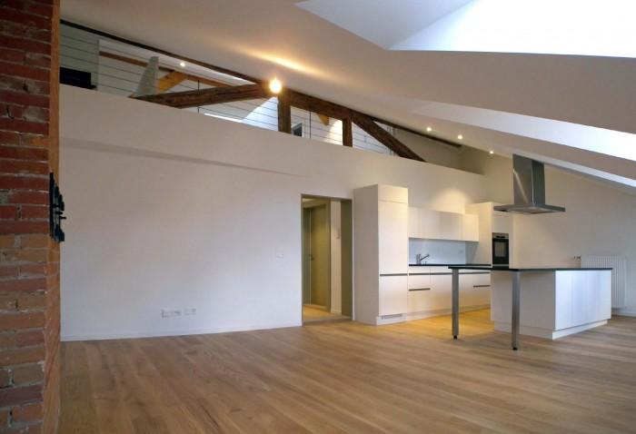 Transformation combles Grand-Rue 9 Fribourg Epure architecture CR-Tech
